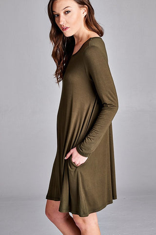 The Kyle Tunic Dress - Olive