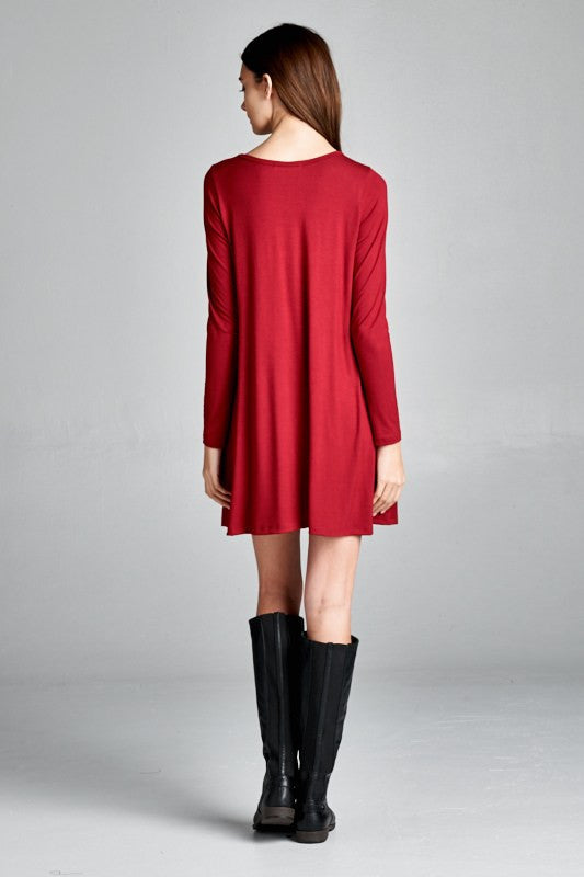 The Kyle Tunic Dress - Red