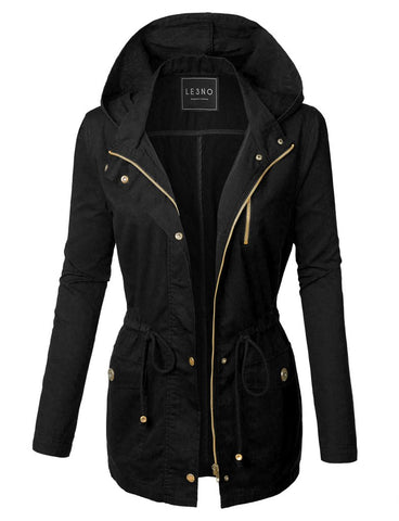 The Olivia Military Jacket - Black