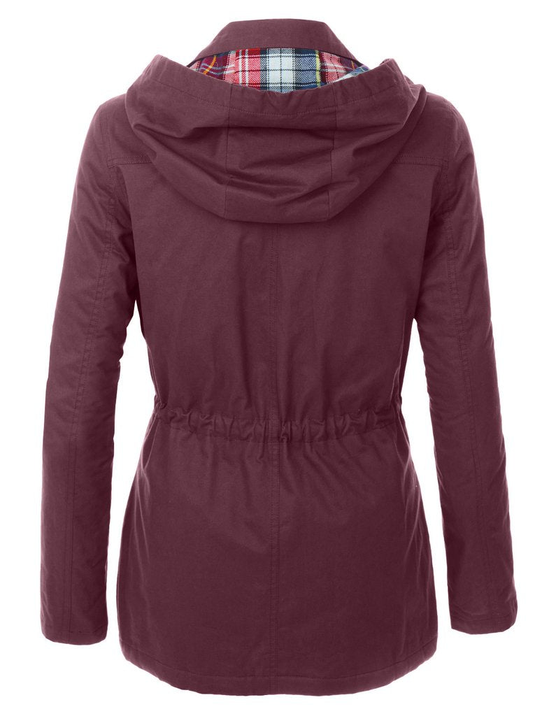 The Anna Fully Lined Jacket - Wine