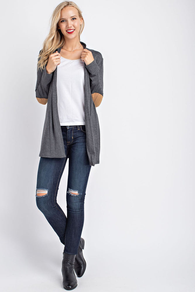Long Sleeve Cardigan - Charcoal