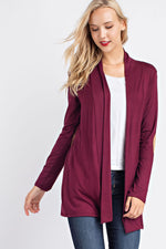Long Sleeve Cardigan - Burgundy