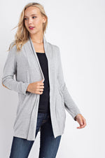 Long Sleeve Cardigan - Heather Grey