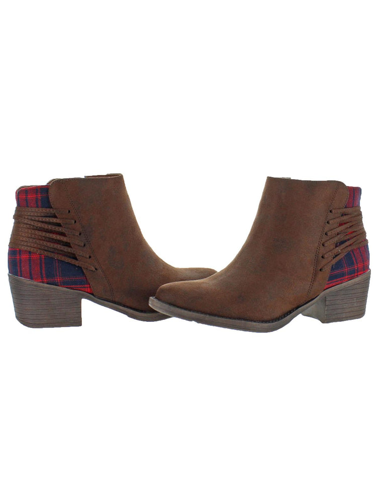 The Mindy Booties with Plaid Detail