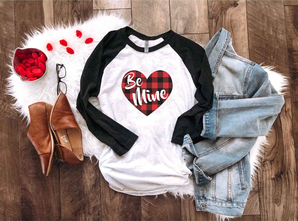 Be Mine Valentine Raglan Top