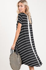 Christine Striped Lace Dress