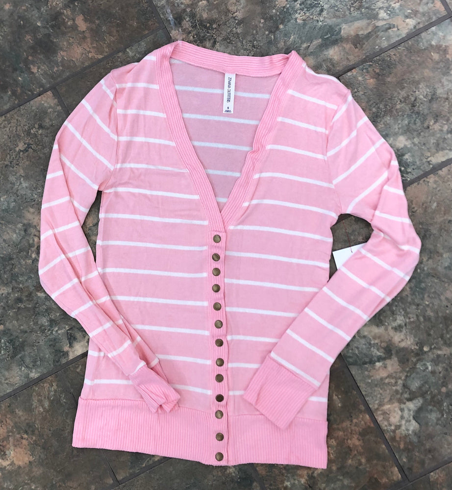 Must Have Cardigan - Dusty Pink/Ivory