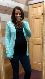 Must Have Cardigan - Blue Mint/Ivory