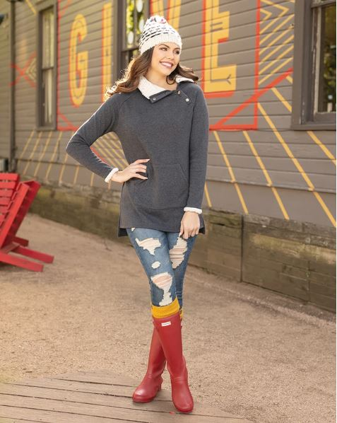 Grace & Lace Snap Up Fleece Tunic