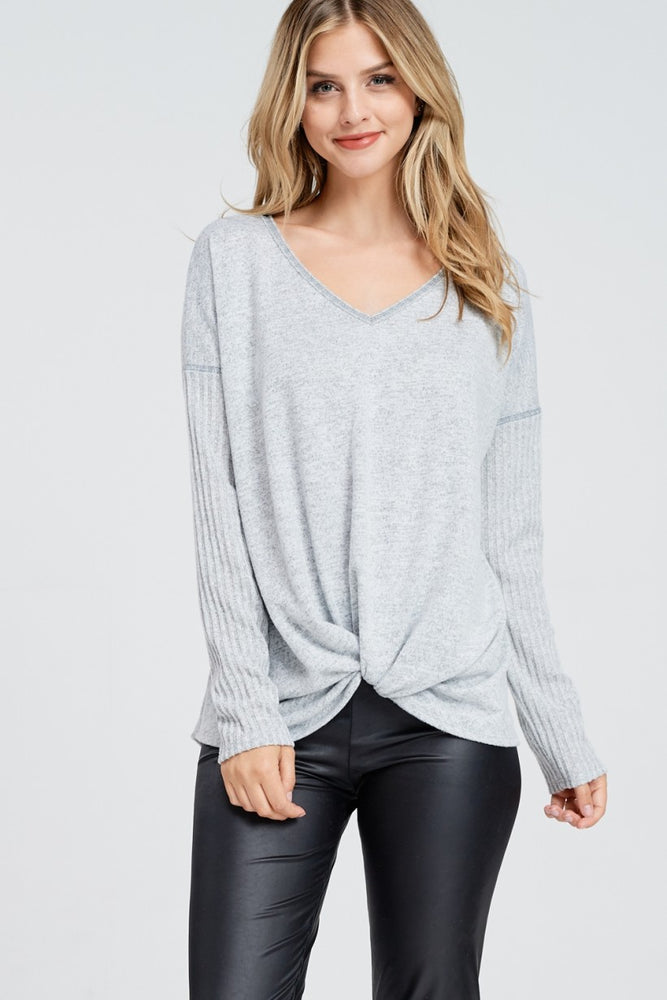 Grace Long Sleeve Soft Top
