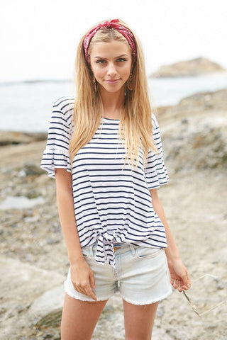 The Riley Front Knot Top
