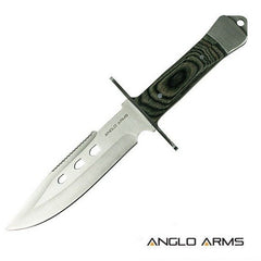 "10.5"" Pakkawood Handle Hunting Knife with case - World War Supplies"