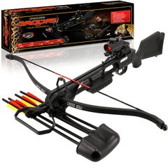150LB Anglo Arms Jaguar MKII Crossbow with Red Dot Sight & Accessories