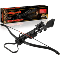 175lb Black Anglo Arms Jaguar Crossbow With Red Dot Sight + Extra Bolts - World War Supplies