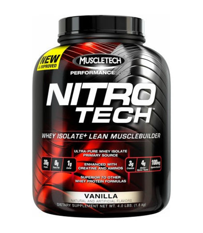 Nitro-Tech Whey Isolate Protein - SupplementsHK