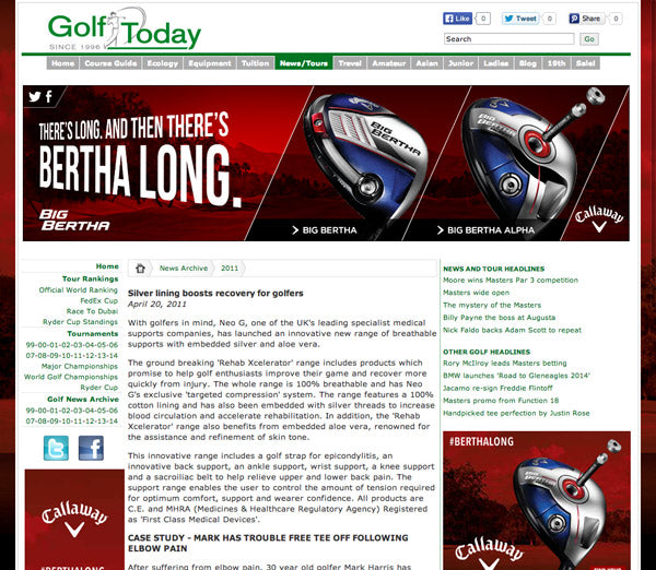 Neo G in GolfToday.co.uk
