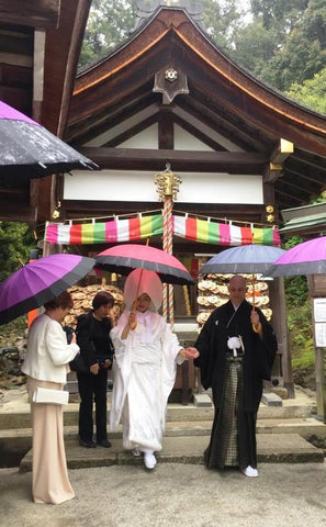 Japanese Unity in Glass Wedding