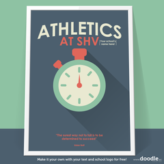 athletics poster - doodle education