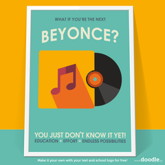 beyonce poster - doodle education