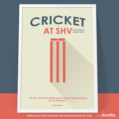 cricket poster - doodle education