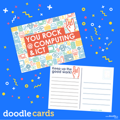 You rock doodle Computing & ICT cards - doodle education