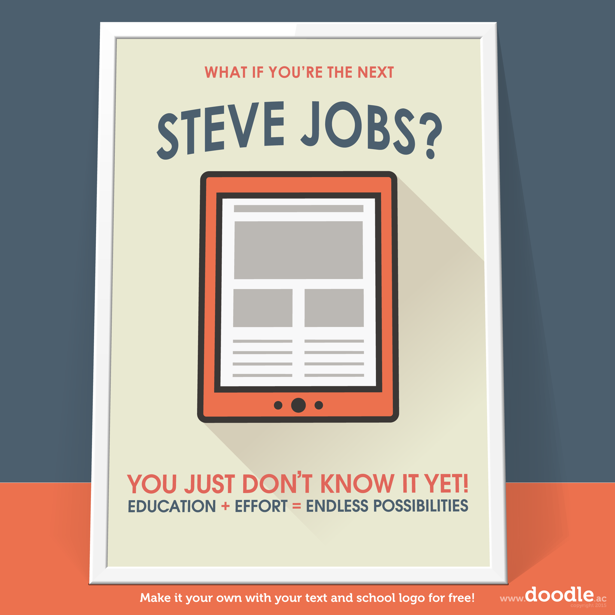 jobs poster - doodle education