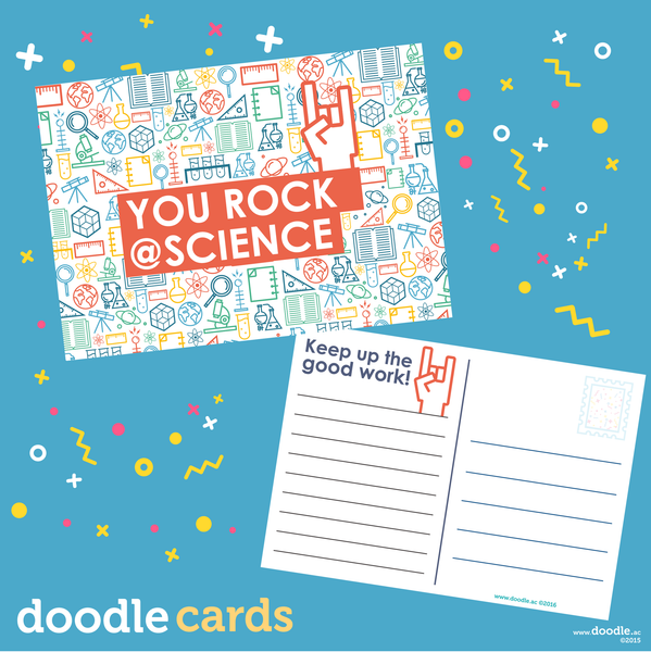 you rock doodle science cards