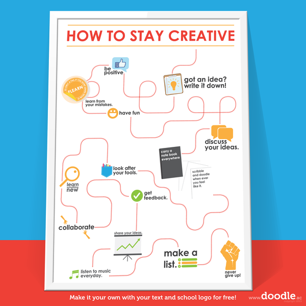 stay creative poster