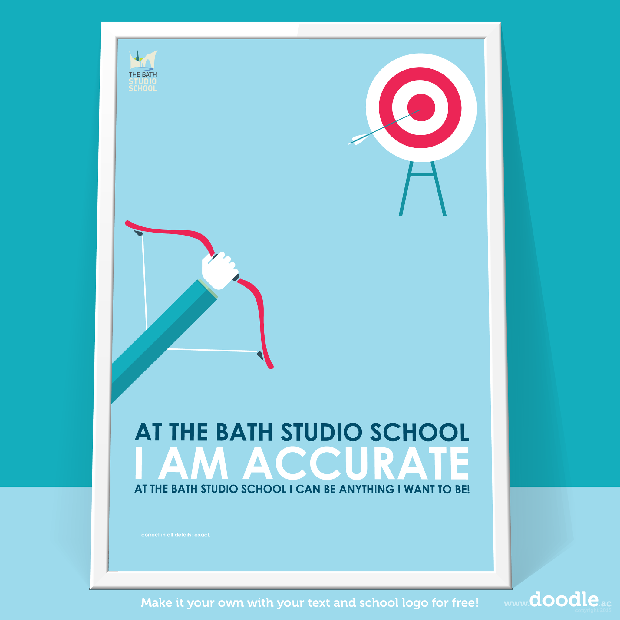 I am accurate poster - doodle education