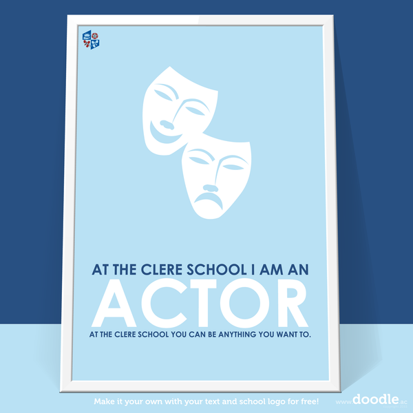 I am an actor poster