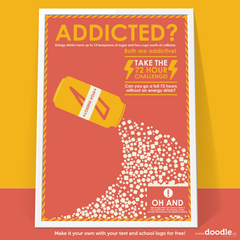 addicted? poster - doodle education