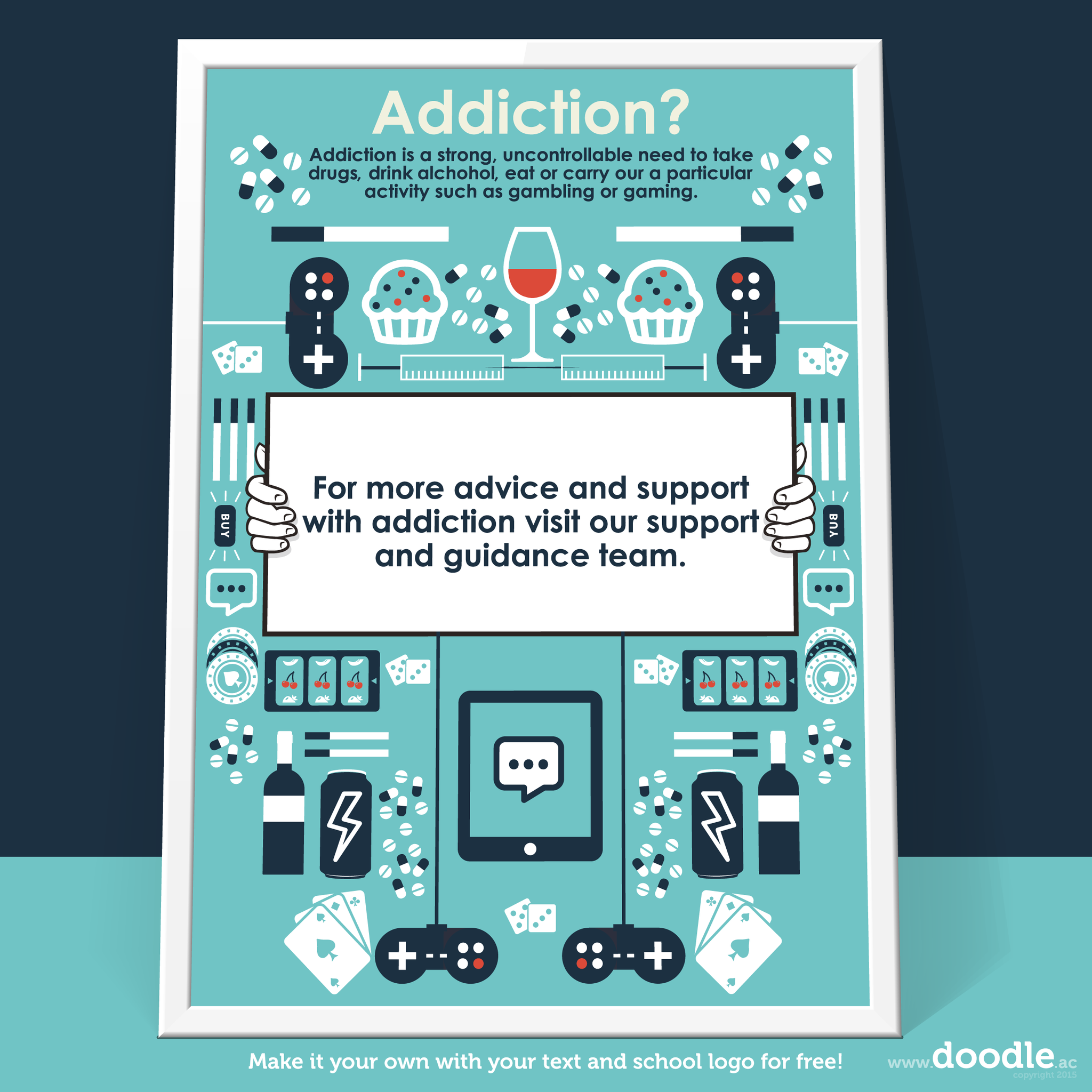 addiction poster - doodle education
