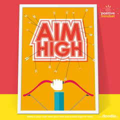 aim high poster - doodle education