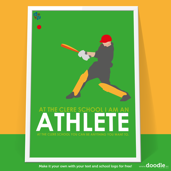 I am an athlete poster