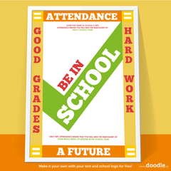 be in school poster - doodle education