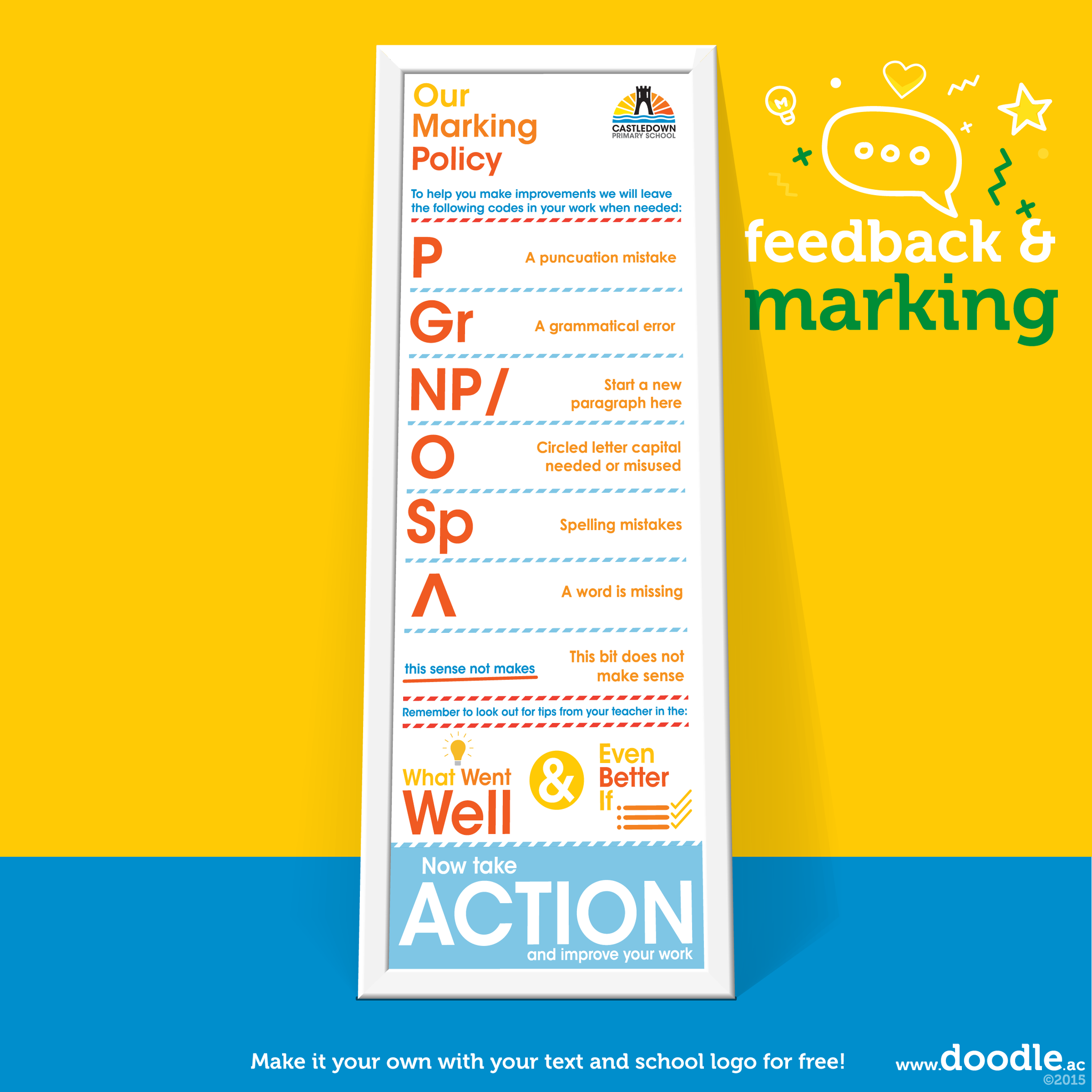 marking policy poster - doodle education