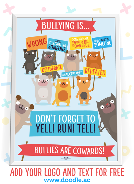 bullying is... poster