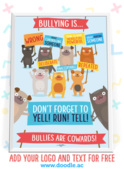 bullying is... poster - doodle education