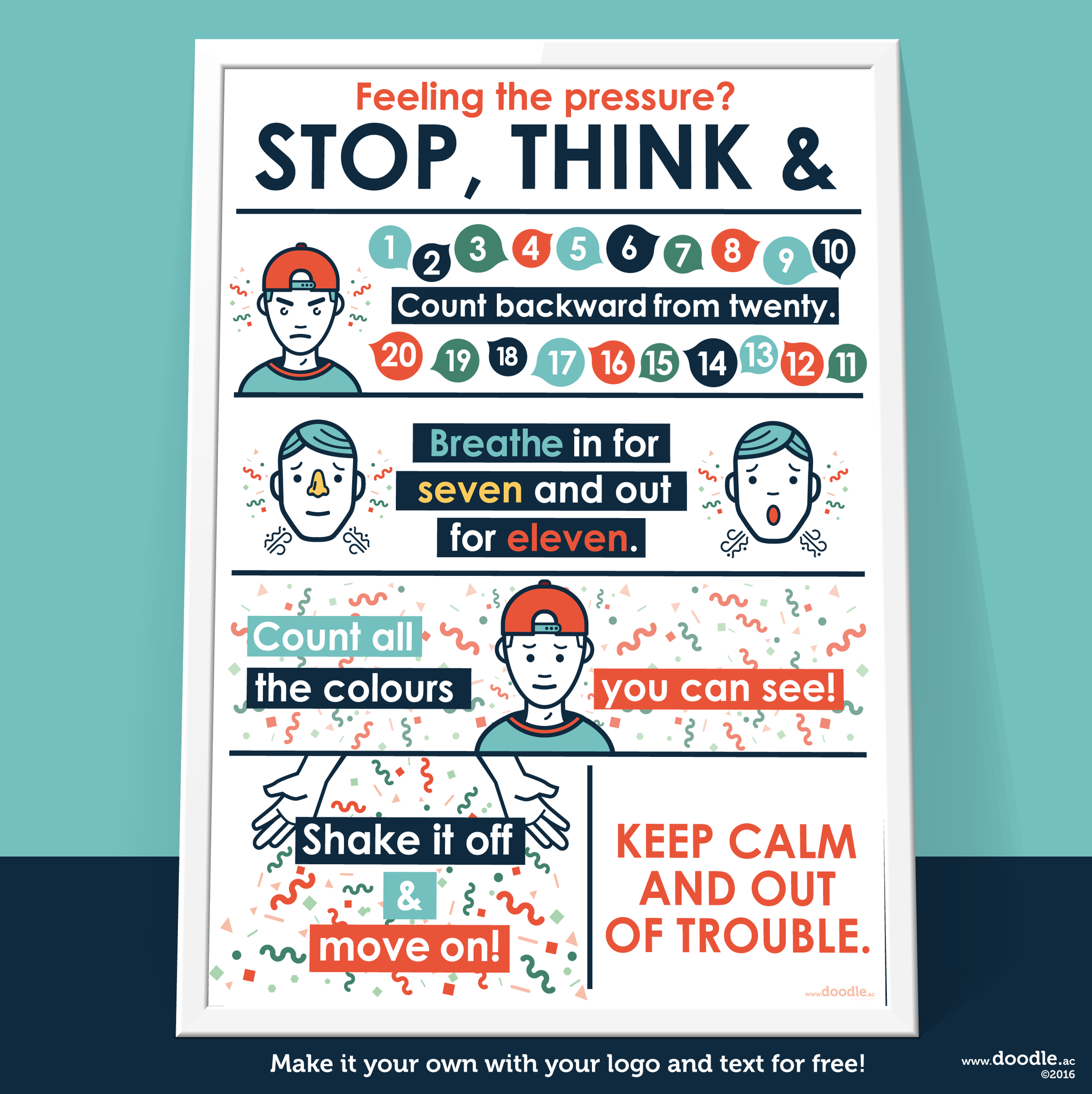 stop, think and poster - doodle education