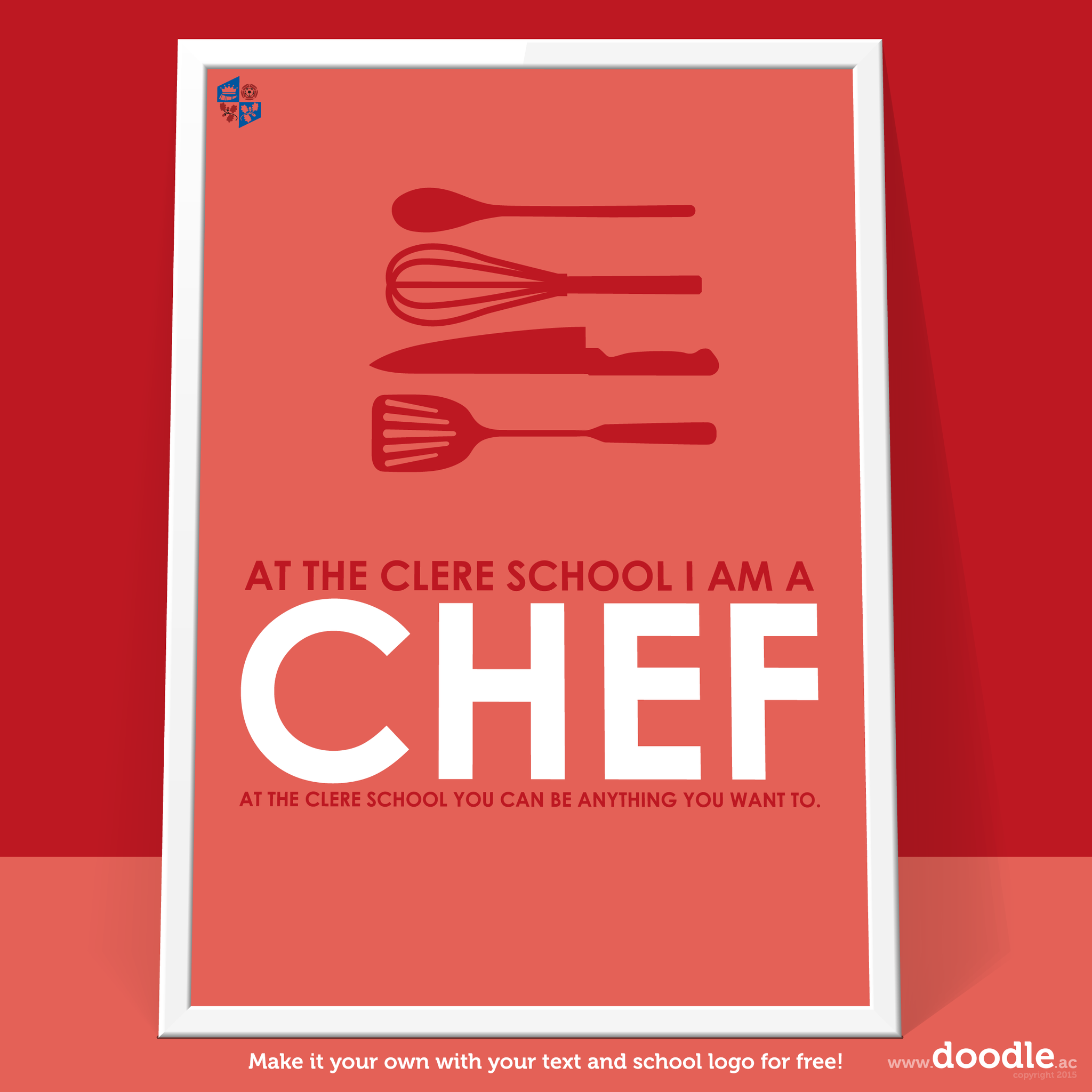 I am a chef poster - doodle education