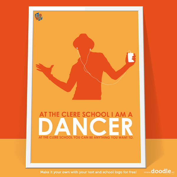 I am a dancer poster