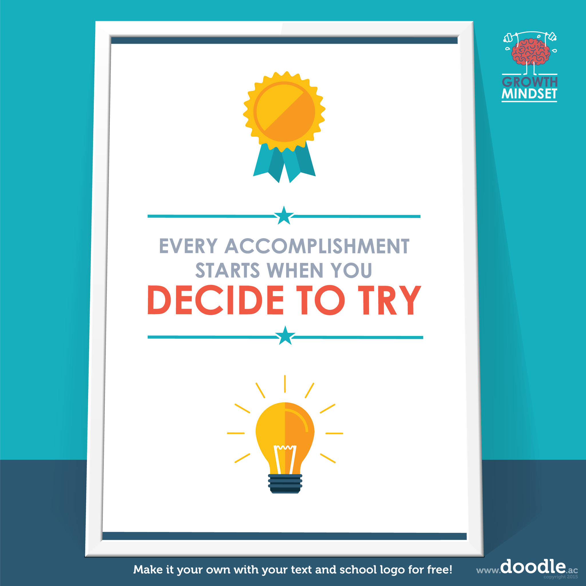 decide to try poster - doodle education