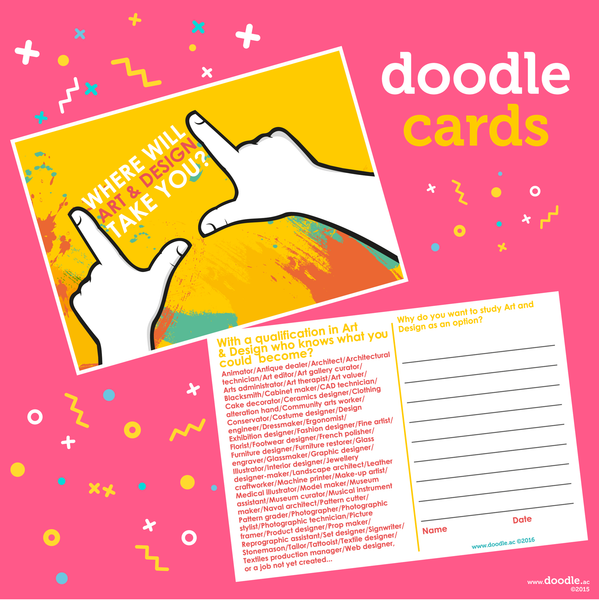 art and design doodle cards