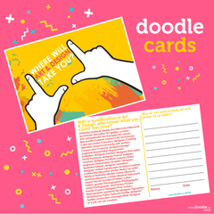 art and design doodle cards - doodle education