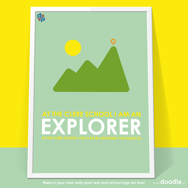I am an explorer poster