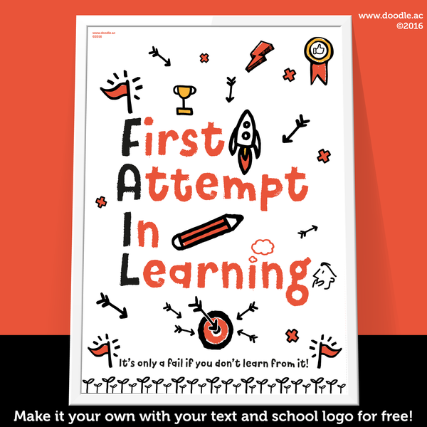 first attempt in learning FAIL poster