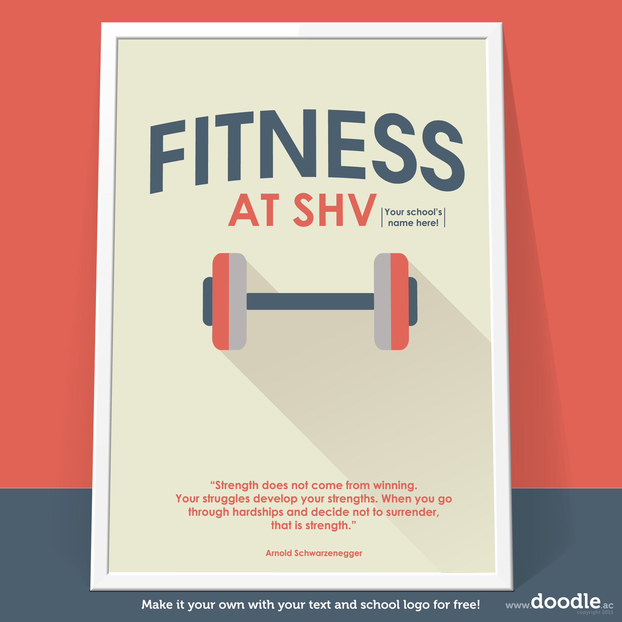 fitness poster - doodle education