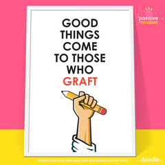 good things come to poster - doodle education
