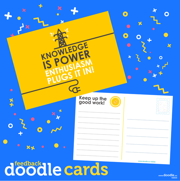 Plug it in doodle cards