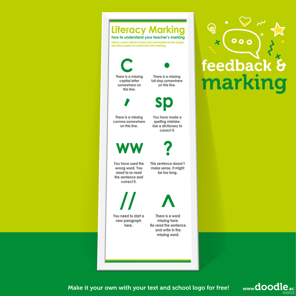 green literacy marking poster